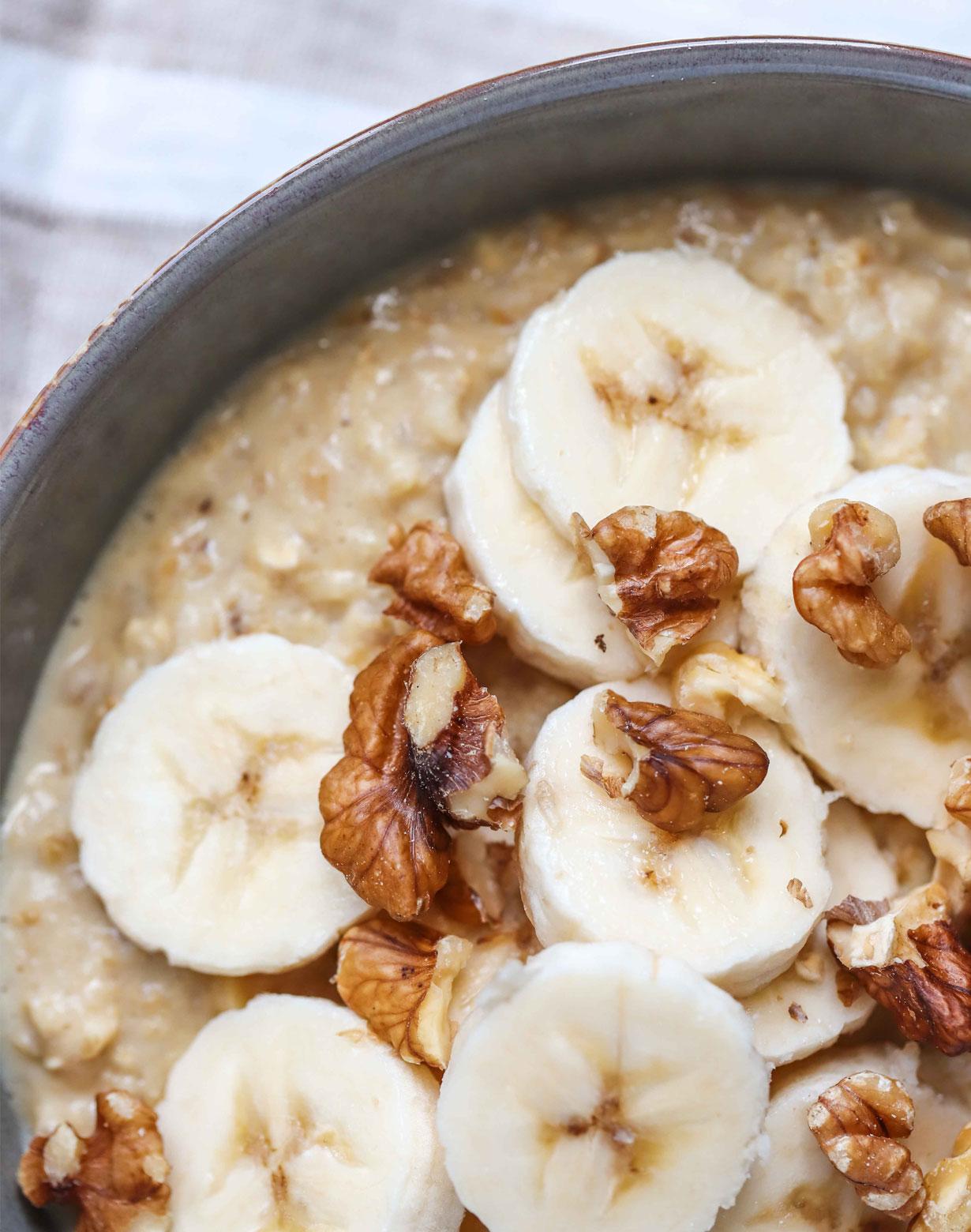 banana walnut porridge recipe