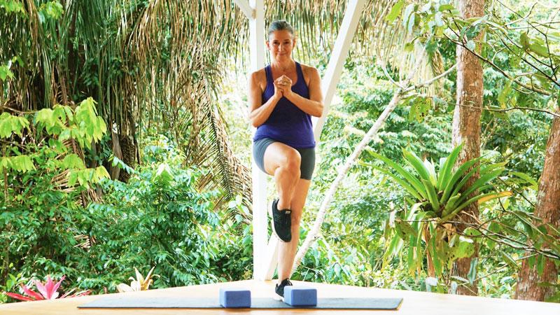 squat and balance