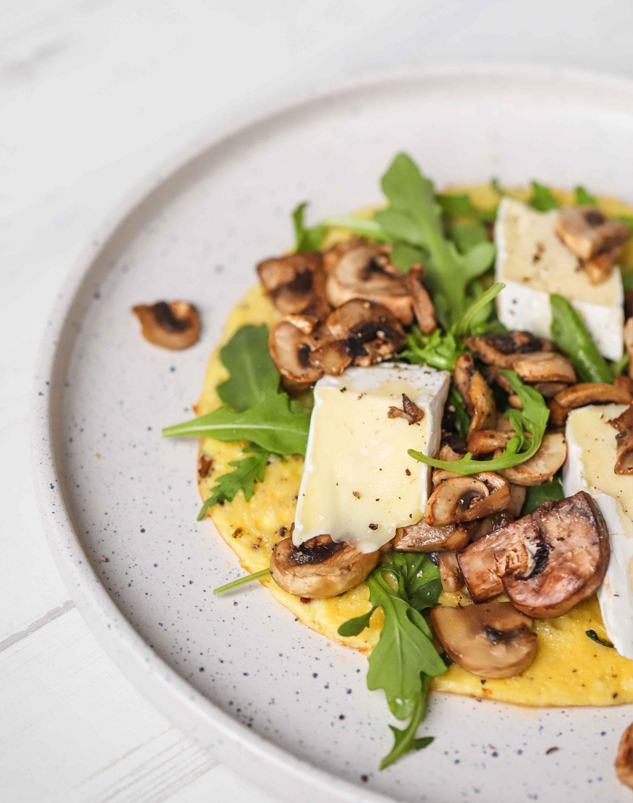 mushroom brie omelette recipe