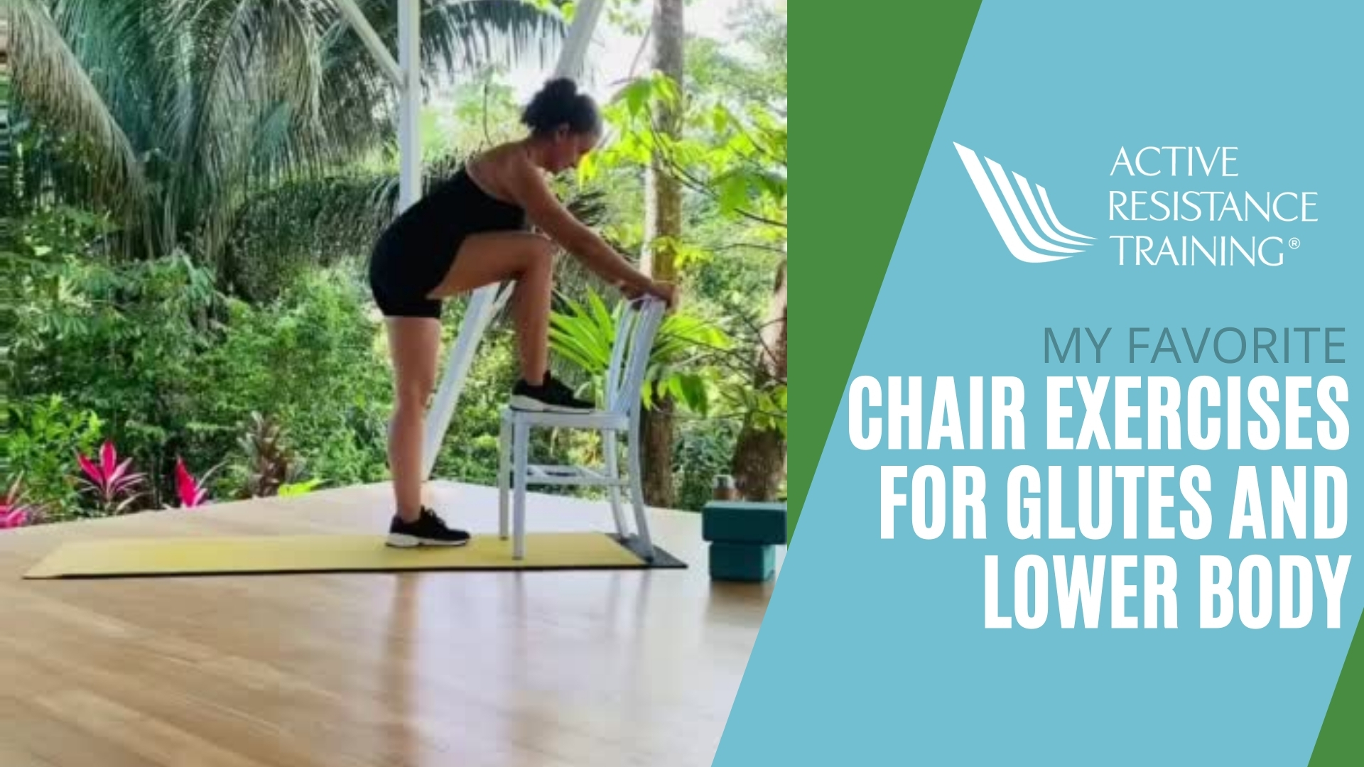 glute & lower body exercises using a chair